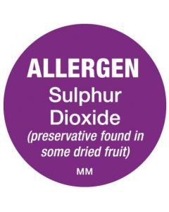 Removable Allergen Labels - Sulphur Dioxide